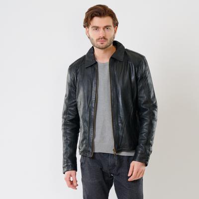 Куртка кожаная Interno42 X1520 оптом