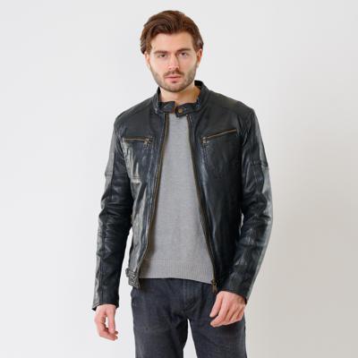 Куртка кожаная Interno42 X1521 оптом